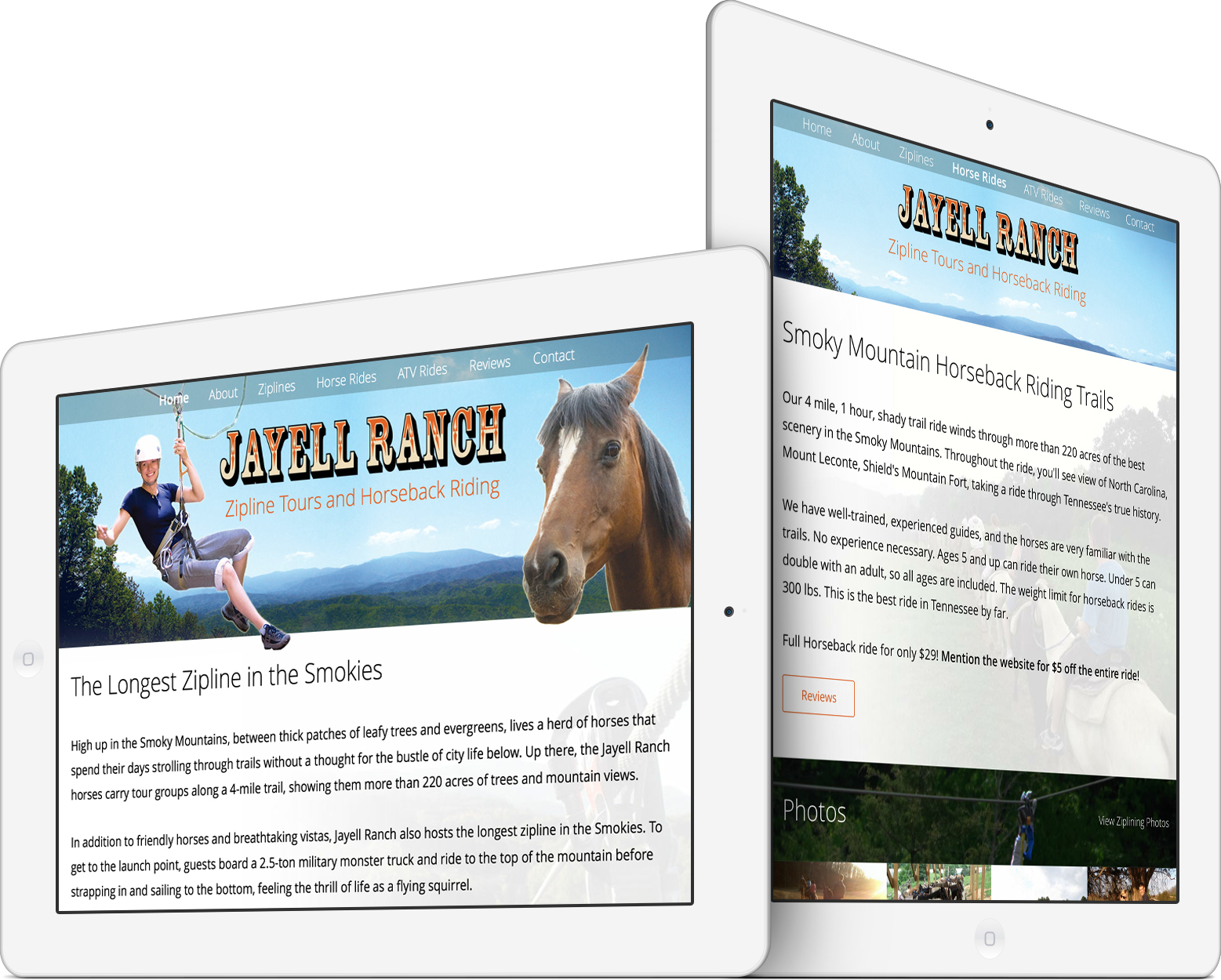 Jayell Ranch on an iPad