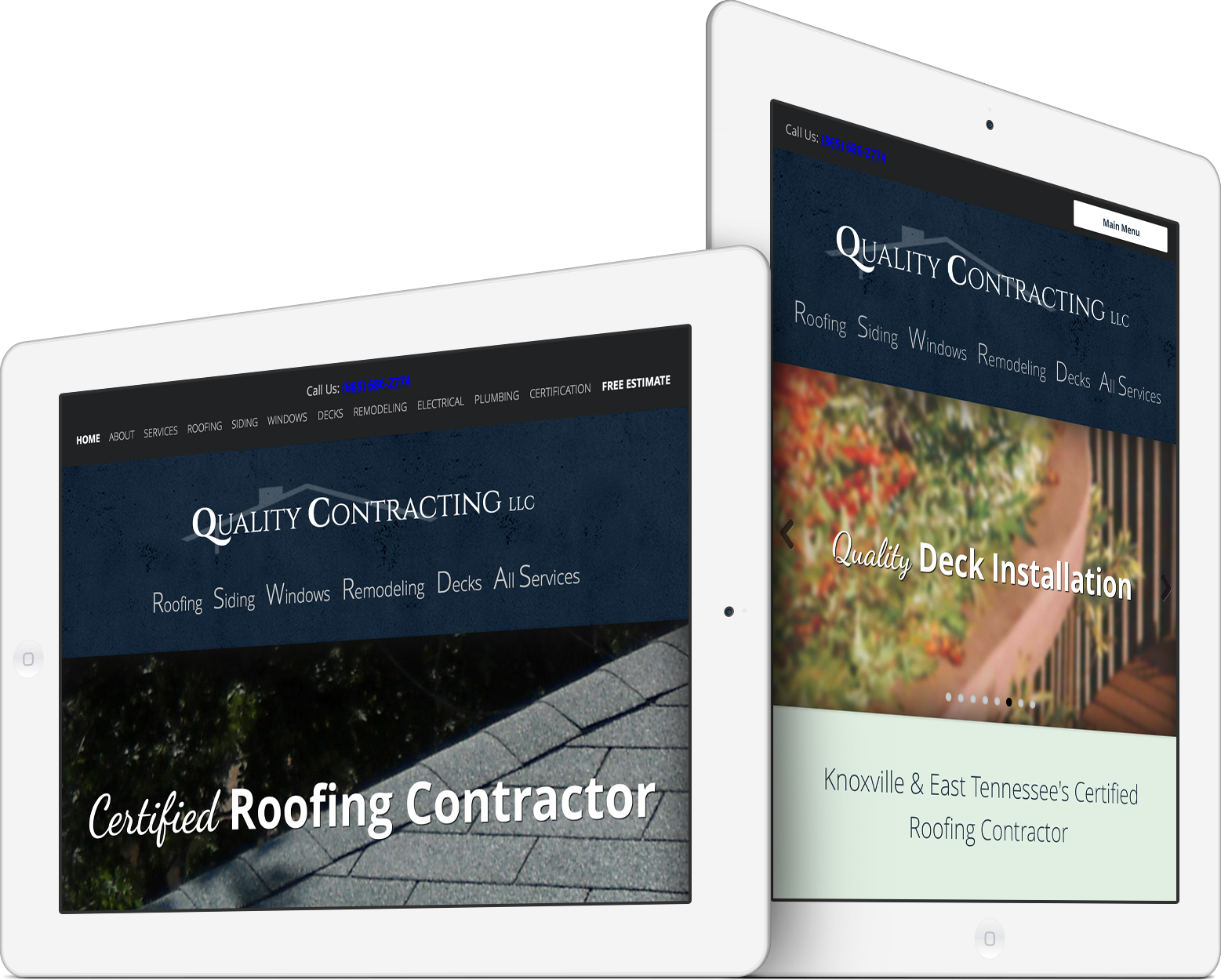 Quality Contracting LLC on an iPad