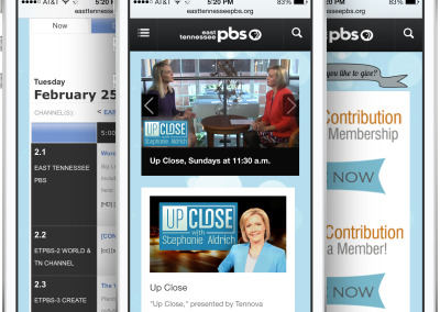 East Tennessee PBS on an iPhone