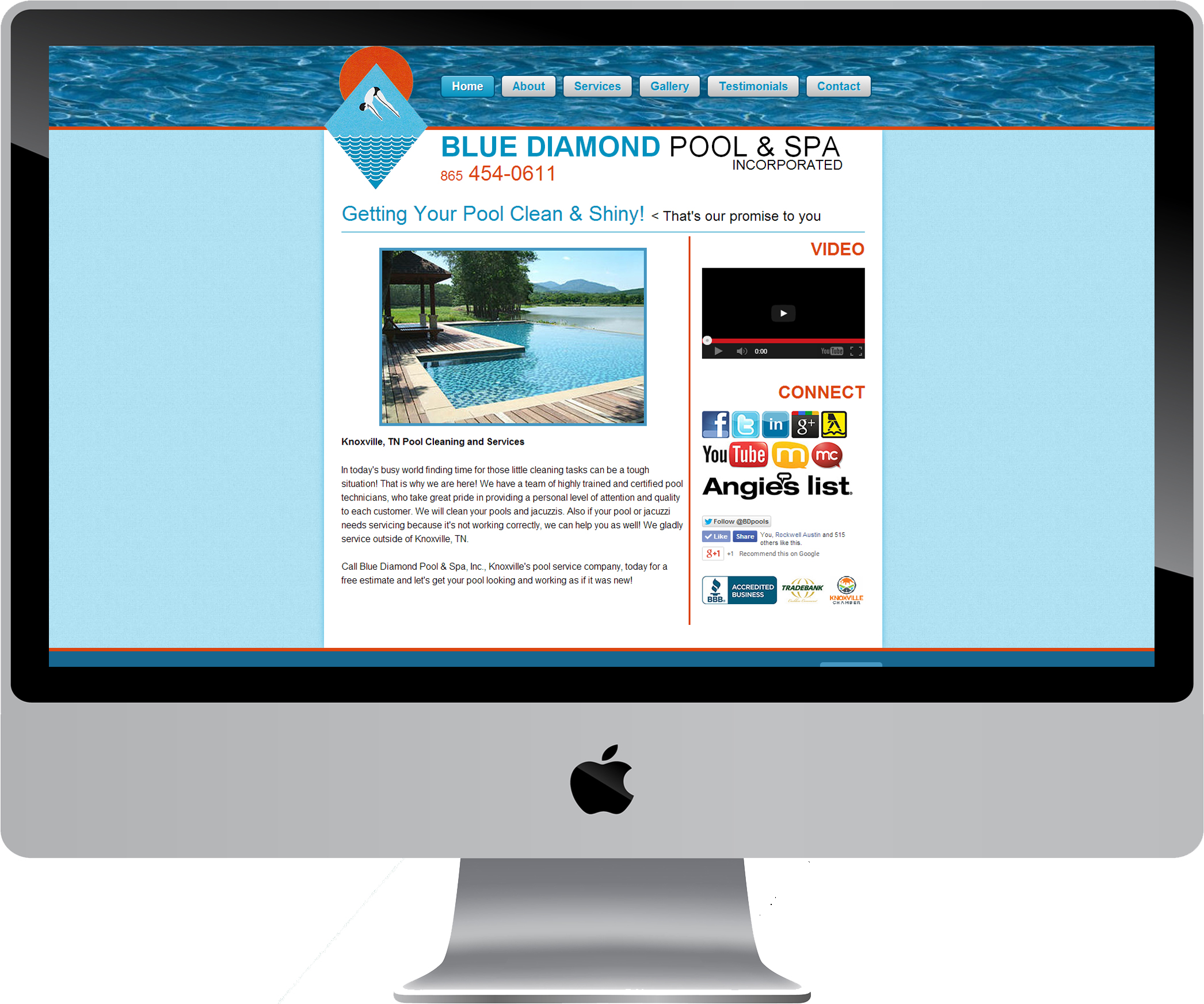 Blue Diamond Pool & Spa on a Desktop