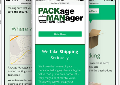 Package Manager Responsive Design on an iPhone