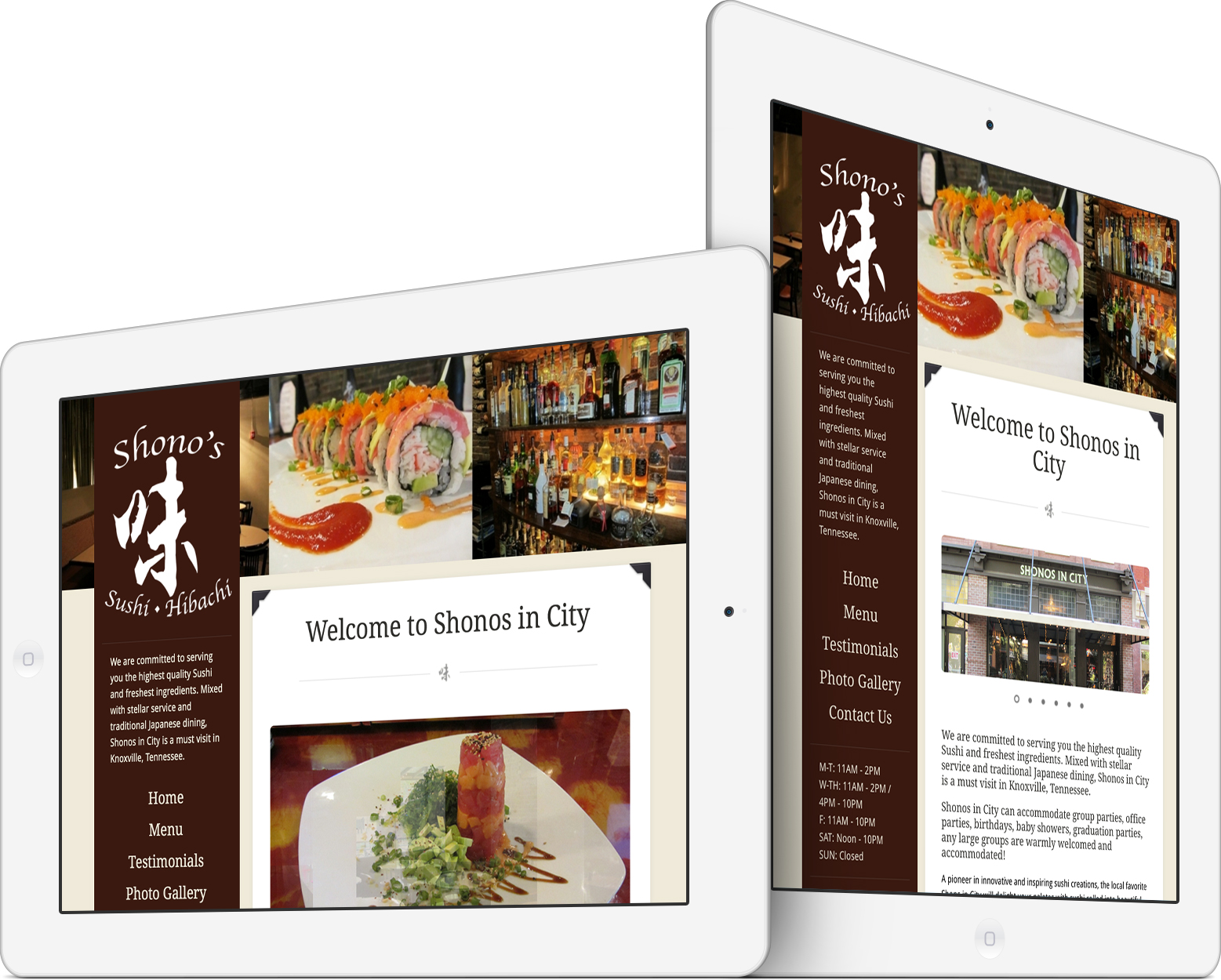 Shonos in City on an iPad