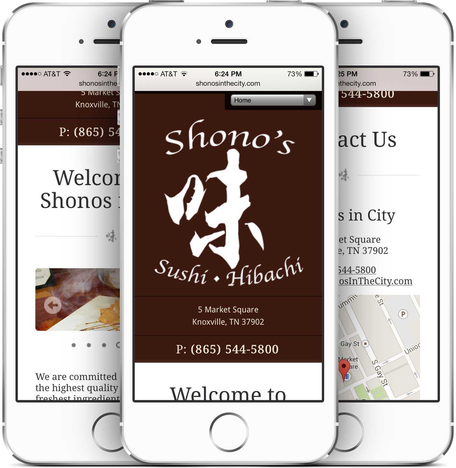 Shonos in City Responsive Design on an iPhone