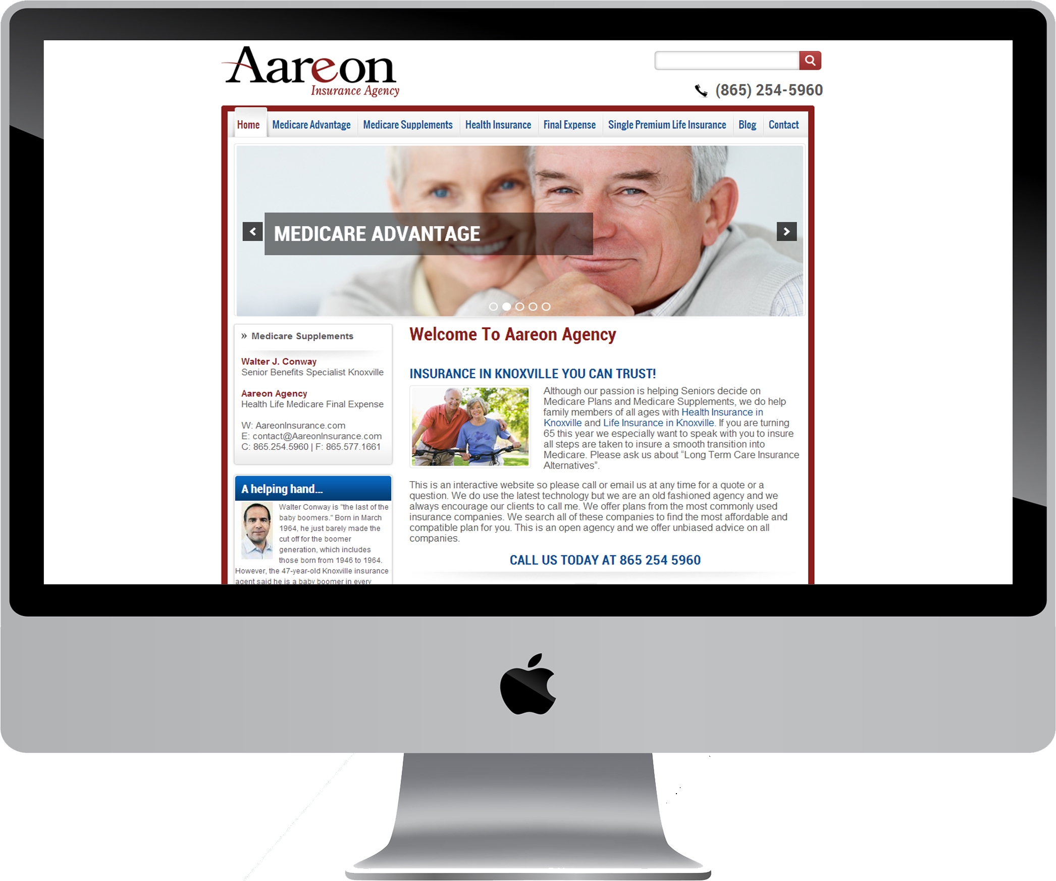 Aareon Insurance Agency on a Desktop