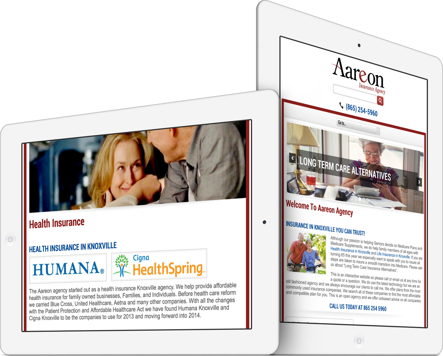 Aareon Insurance Agency on an iPad