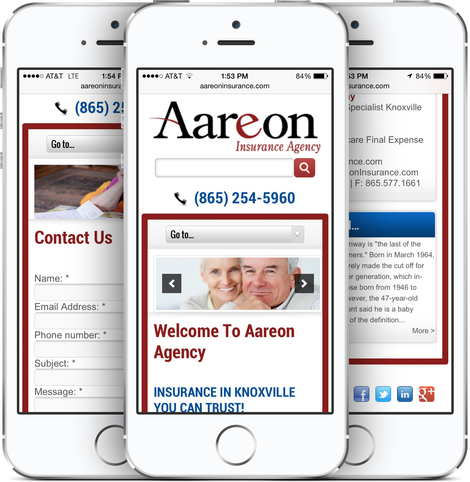 Aareon Insurance Agency on an iPhone