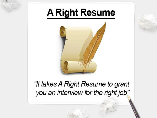 A Right Resume Services