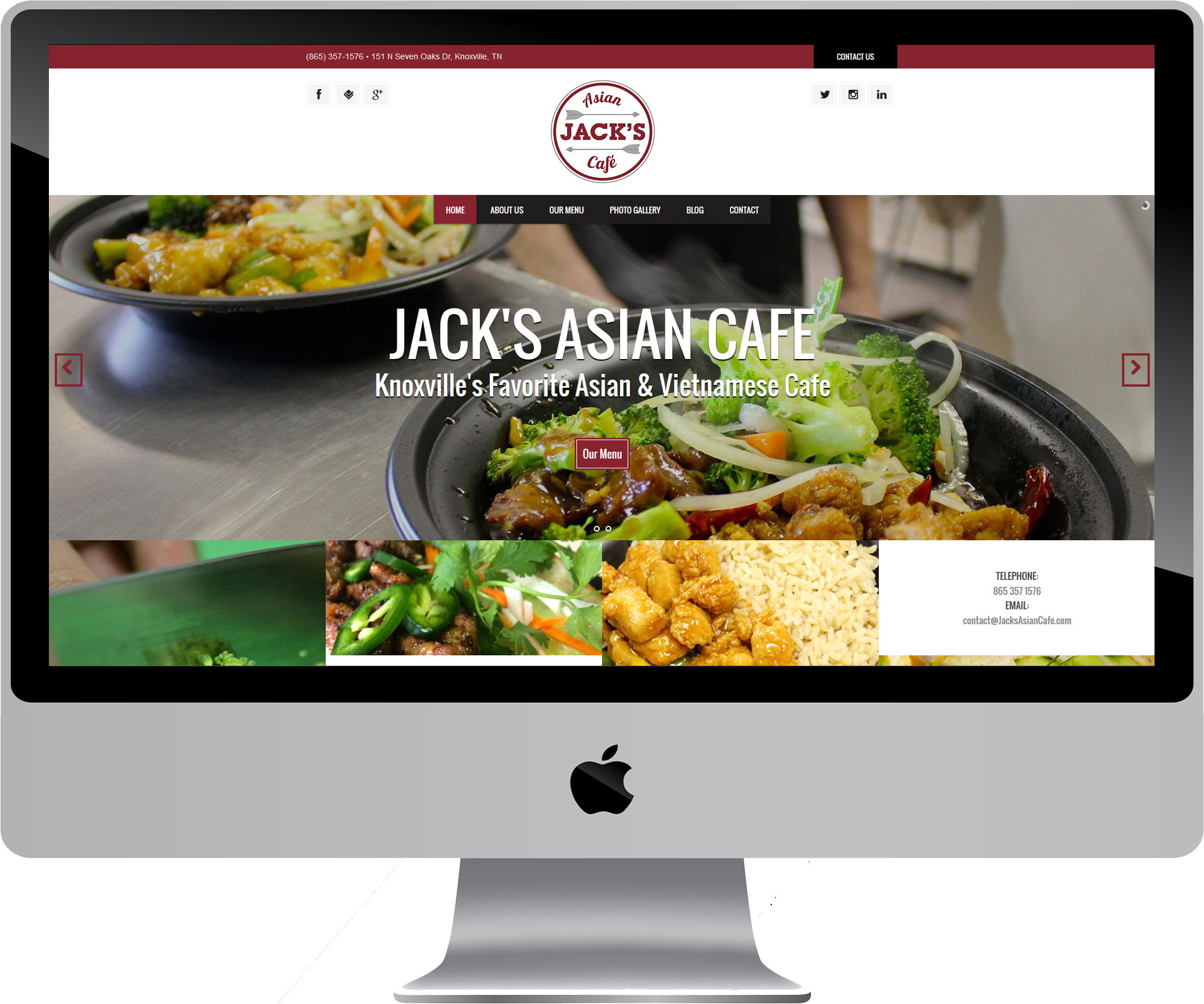 Jack's Asian Cafe on a Desktop