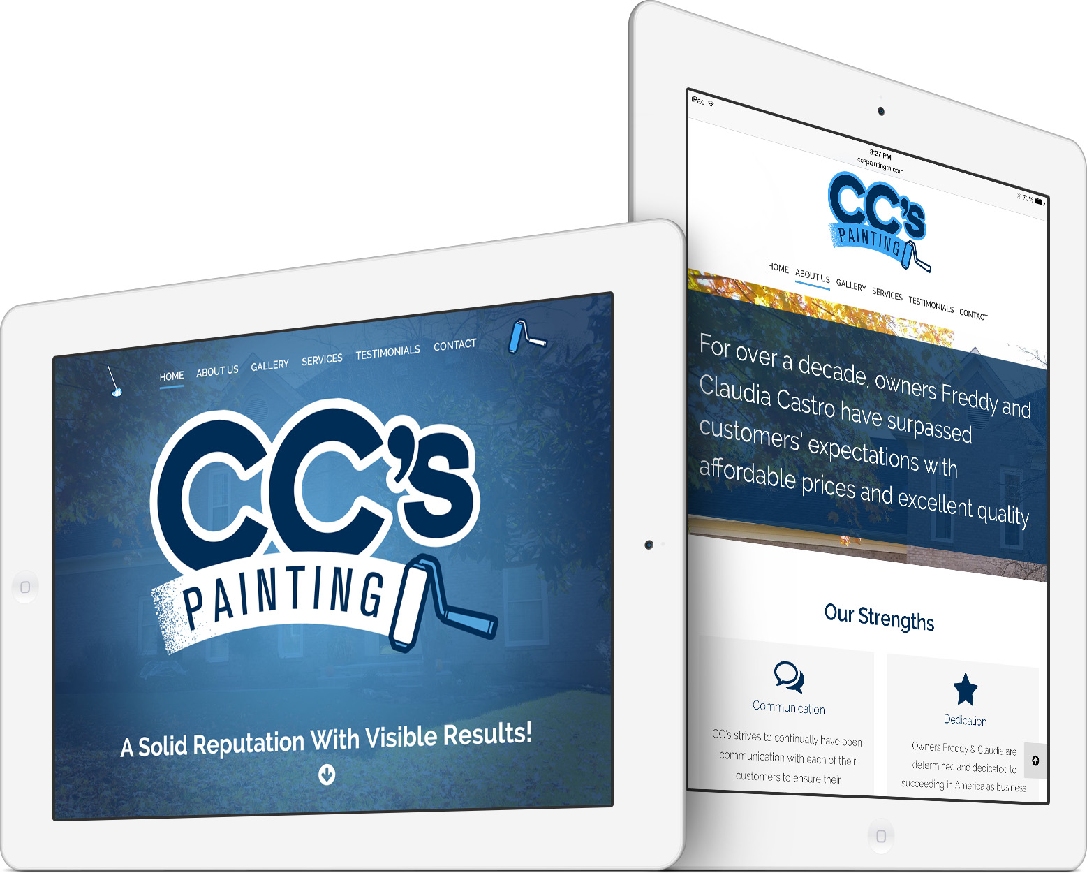 CC's Painting & Cleaning on an iPad