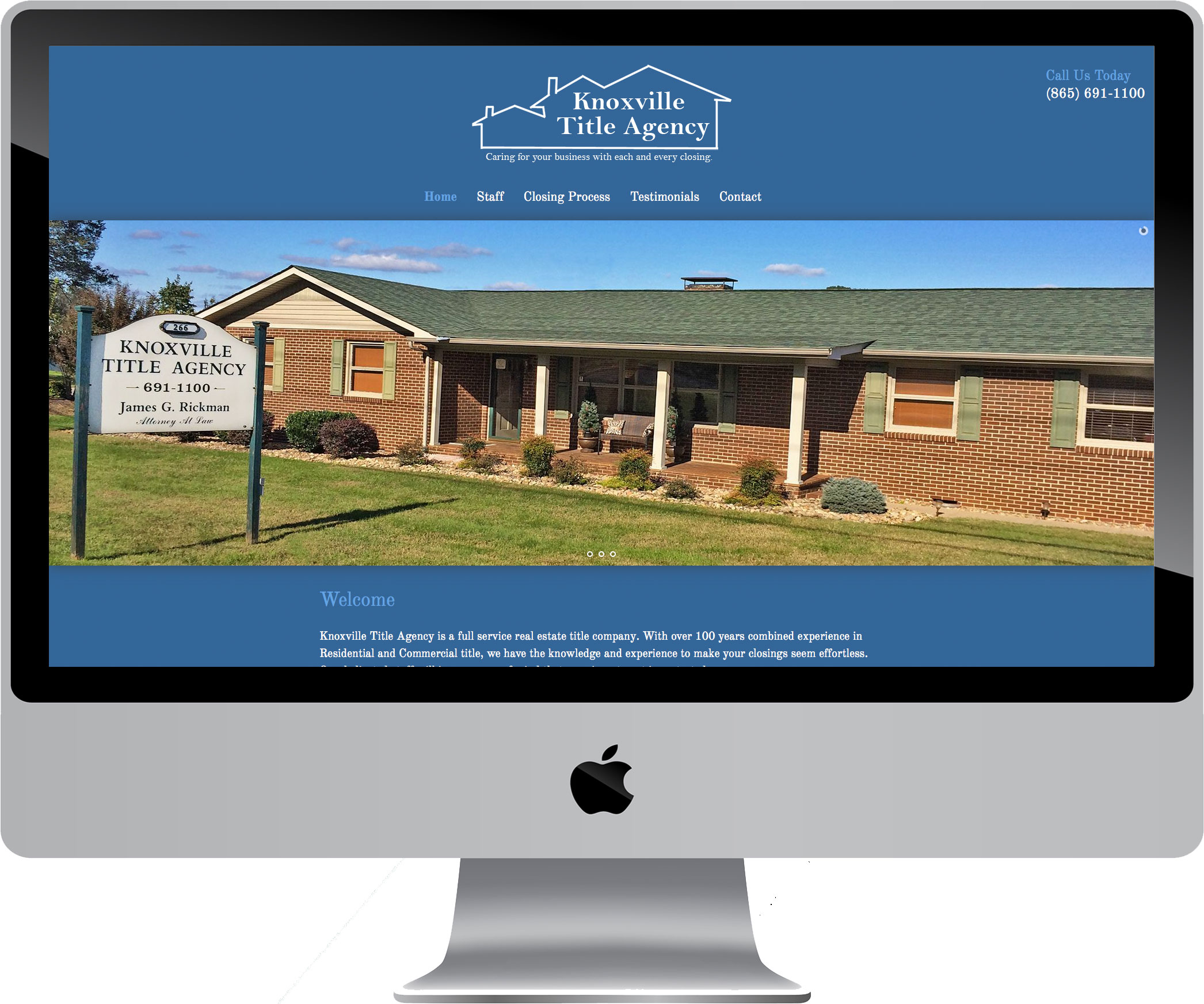 Knoxville Title Agency on a Desktop