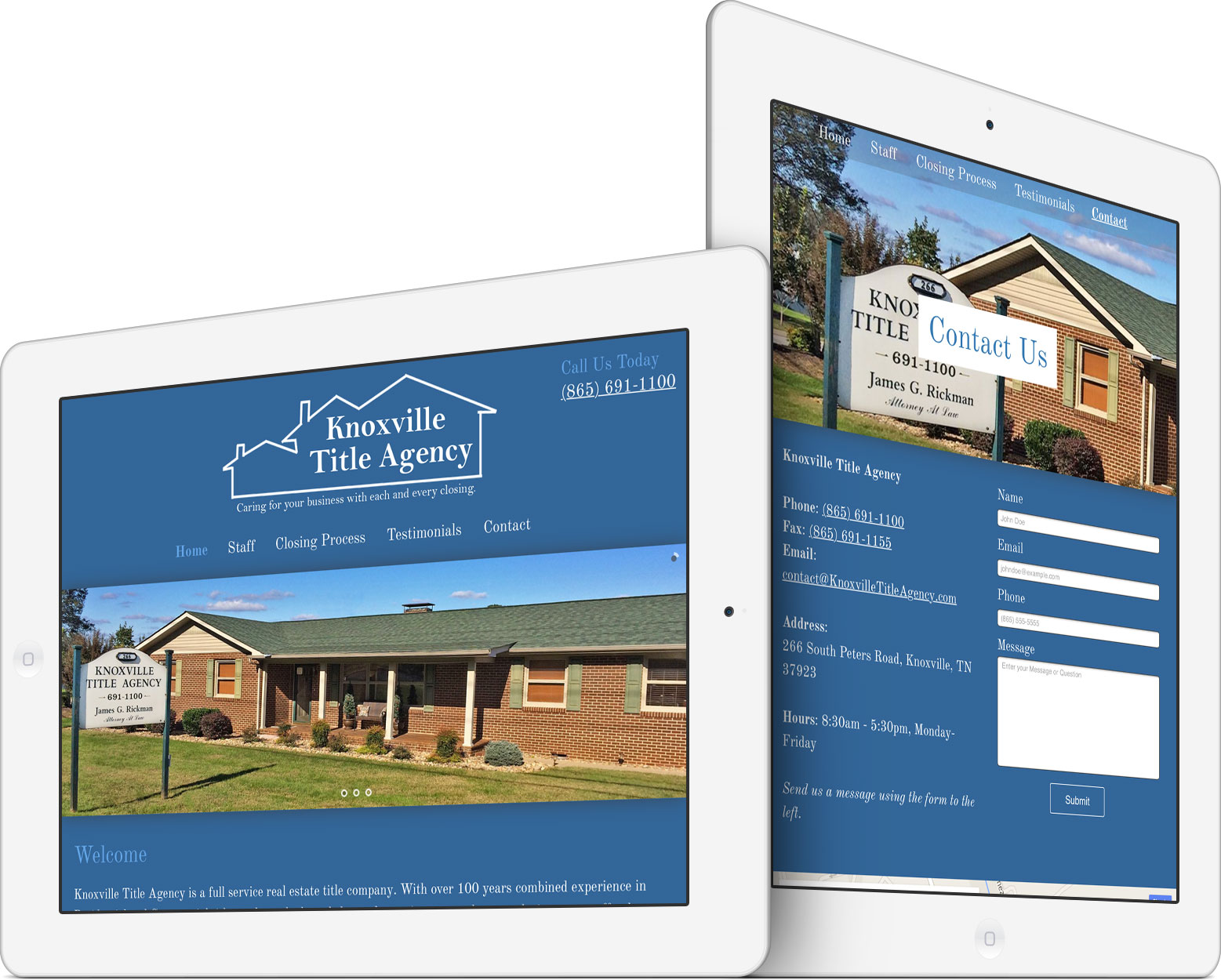 Knoxville Title Agency on a Tablet