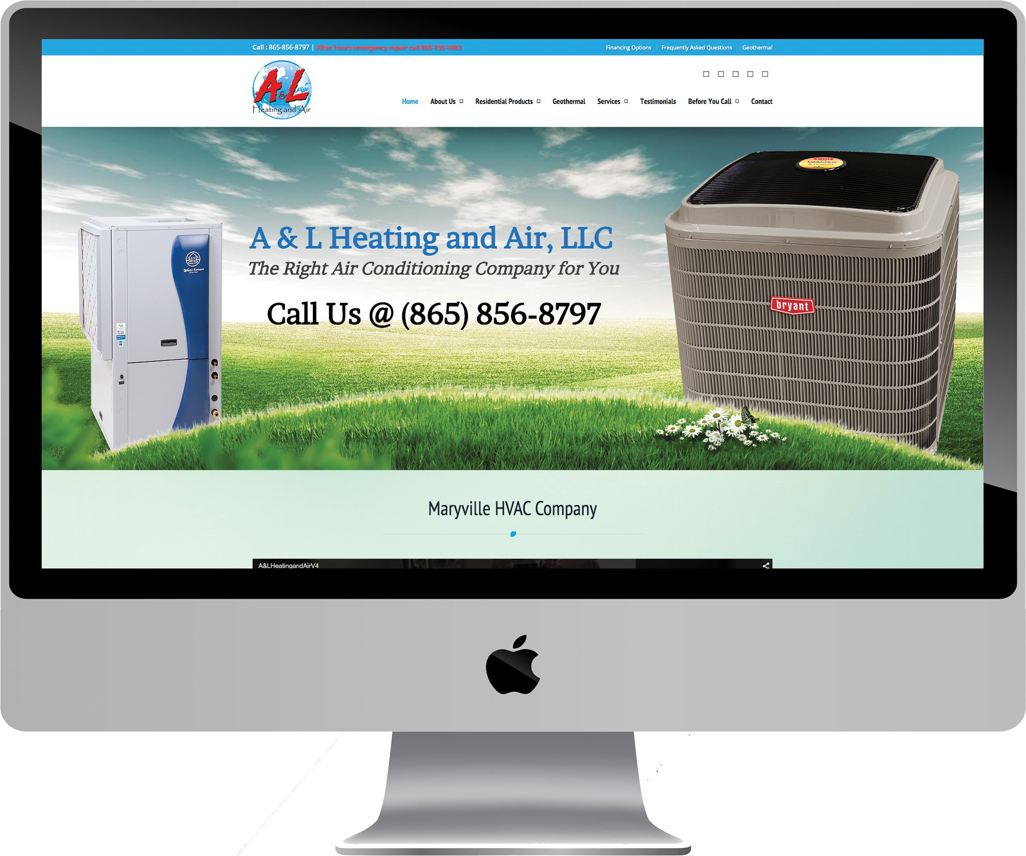 A & L Heating and Air on a Desktop