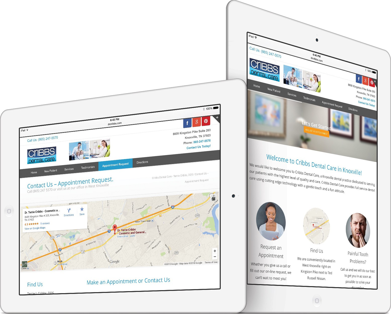 Cribbs Dental Care Responsive Website Design