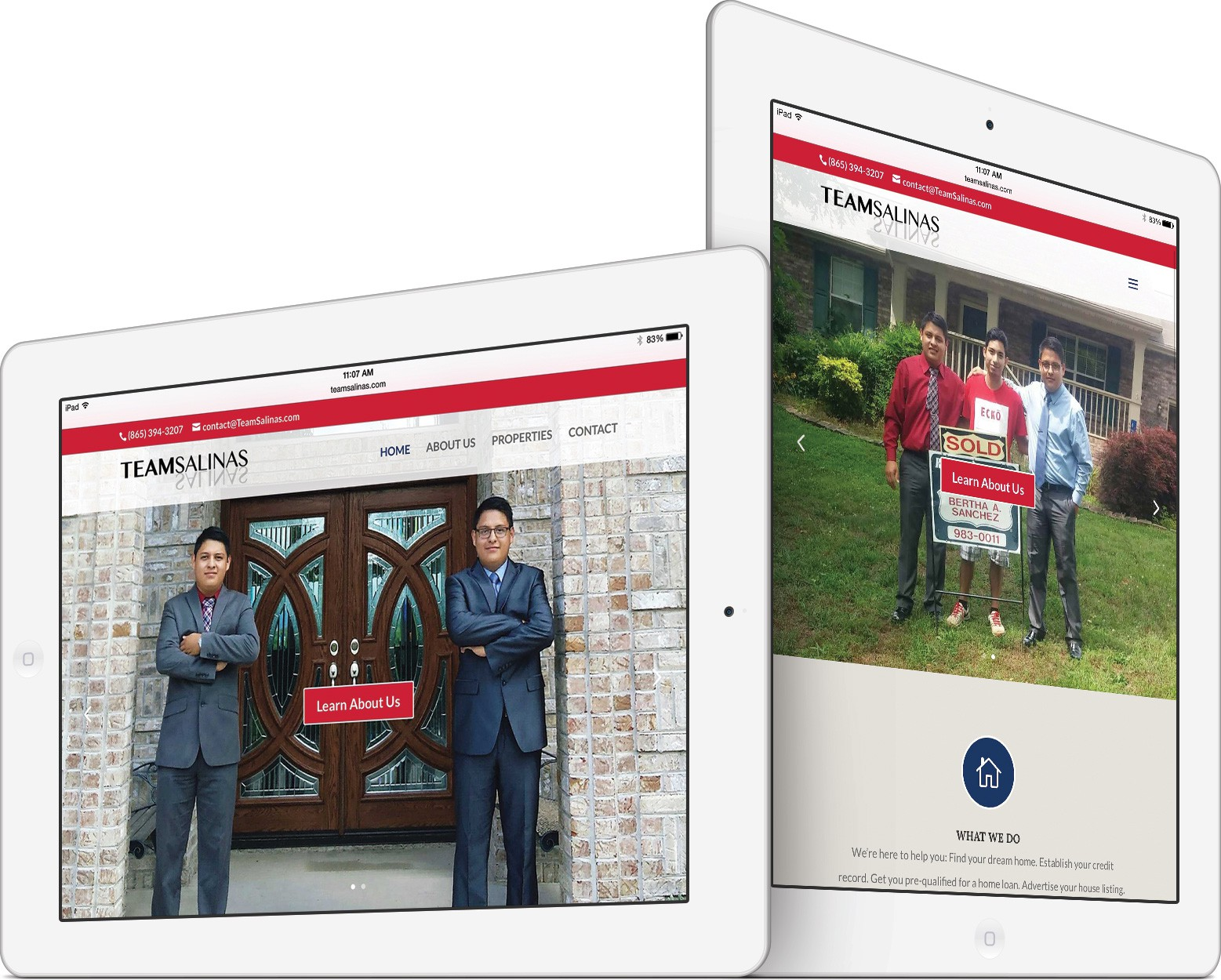 Team Salinas on an iPad