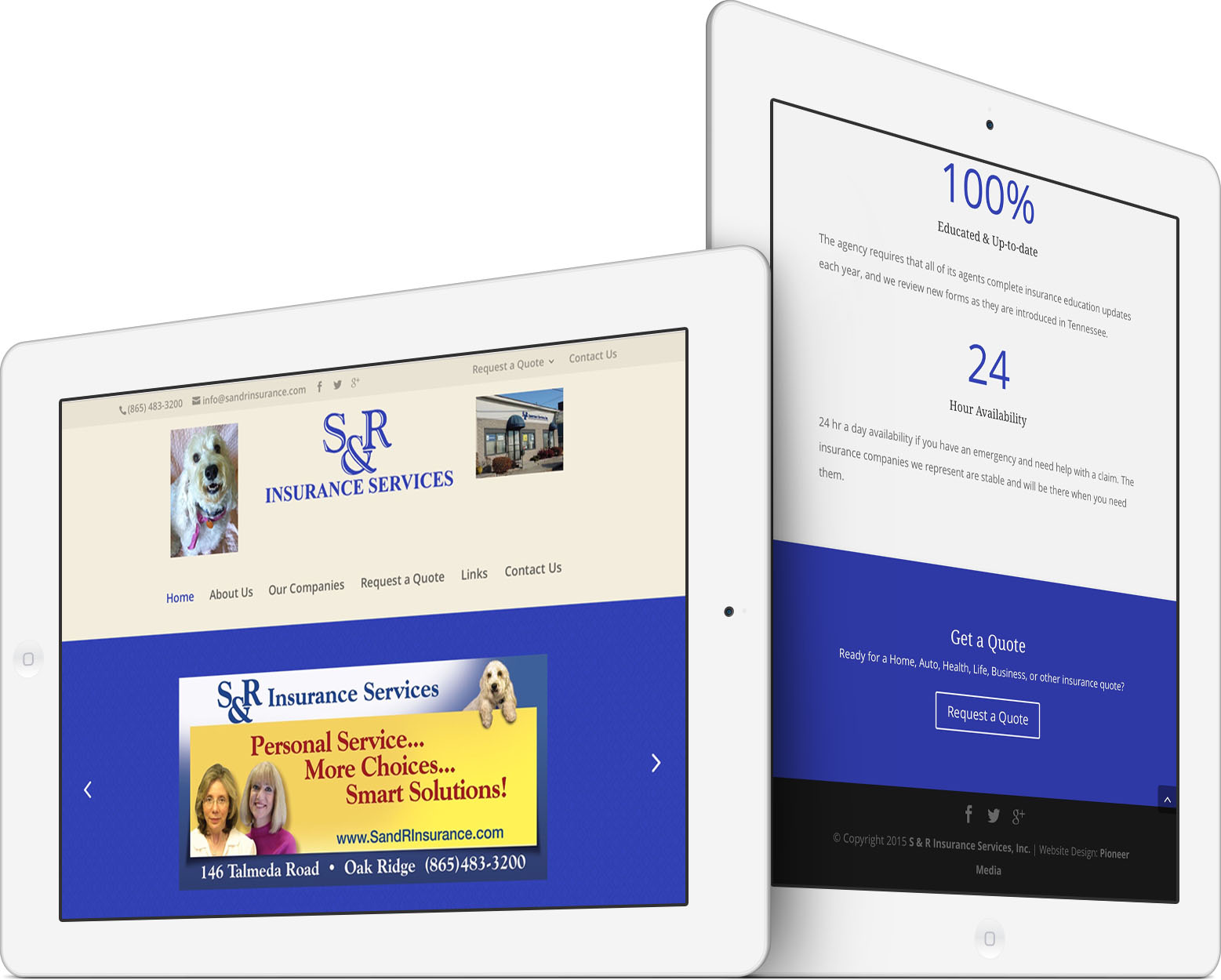 S & R Insurance Services, Inc. on an iPad