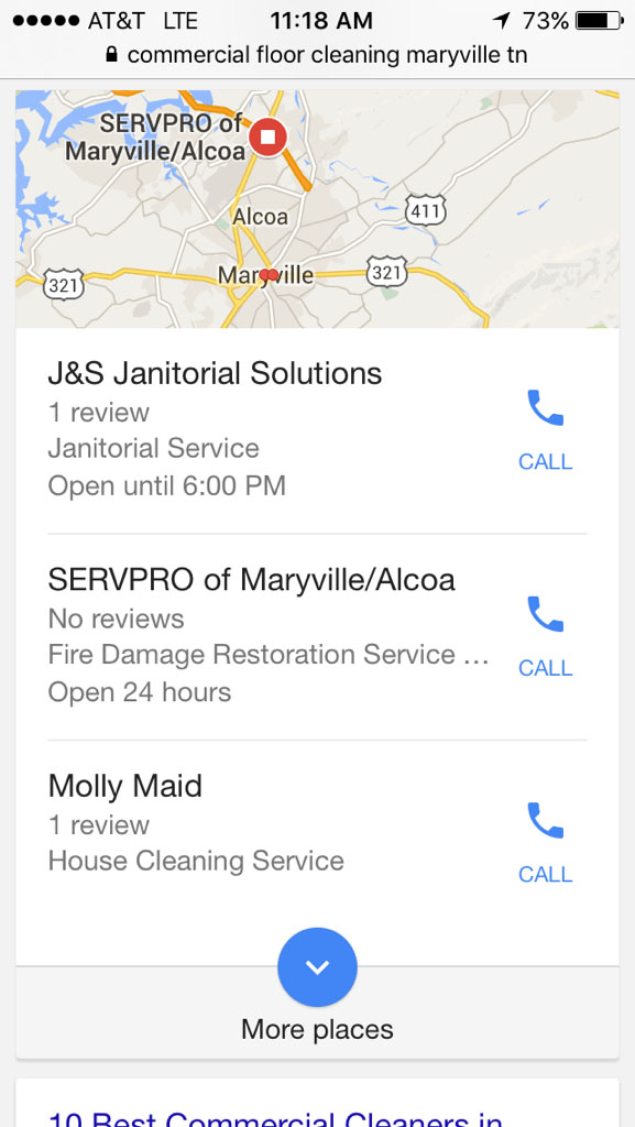 J&S Google Search on Mobile Device