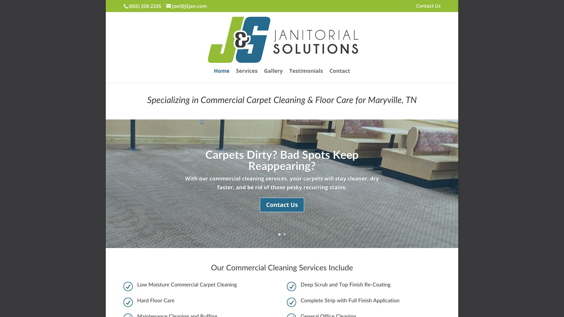 J&S Janitorial Solutions Website Design