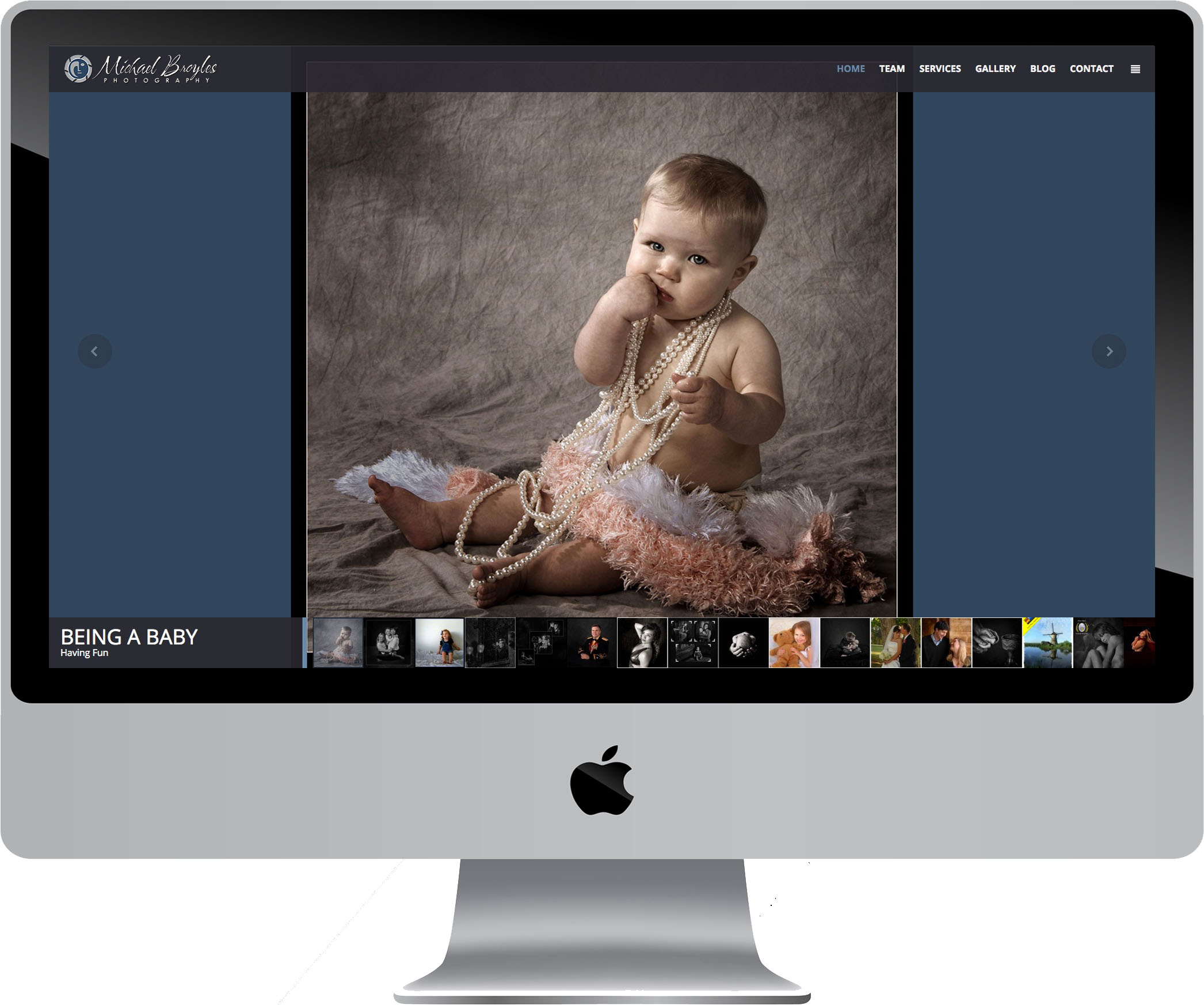 Michael Broyles Photography Web Design on a Desktop
