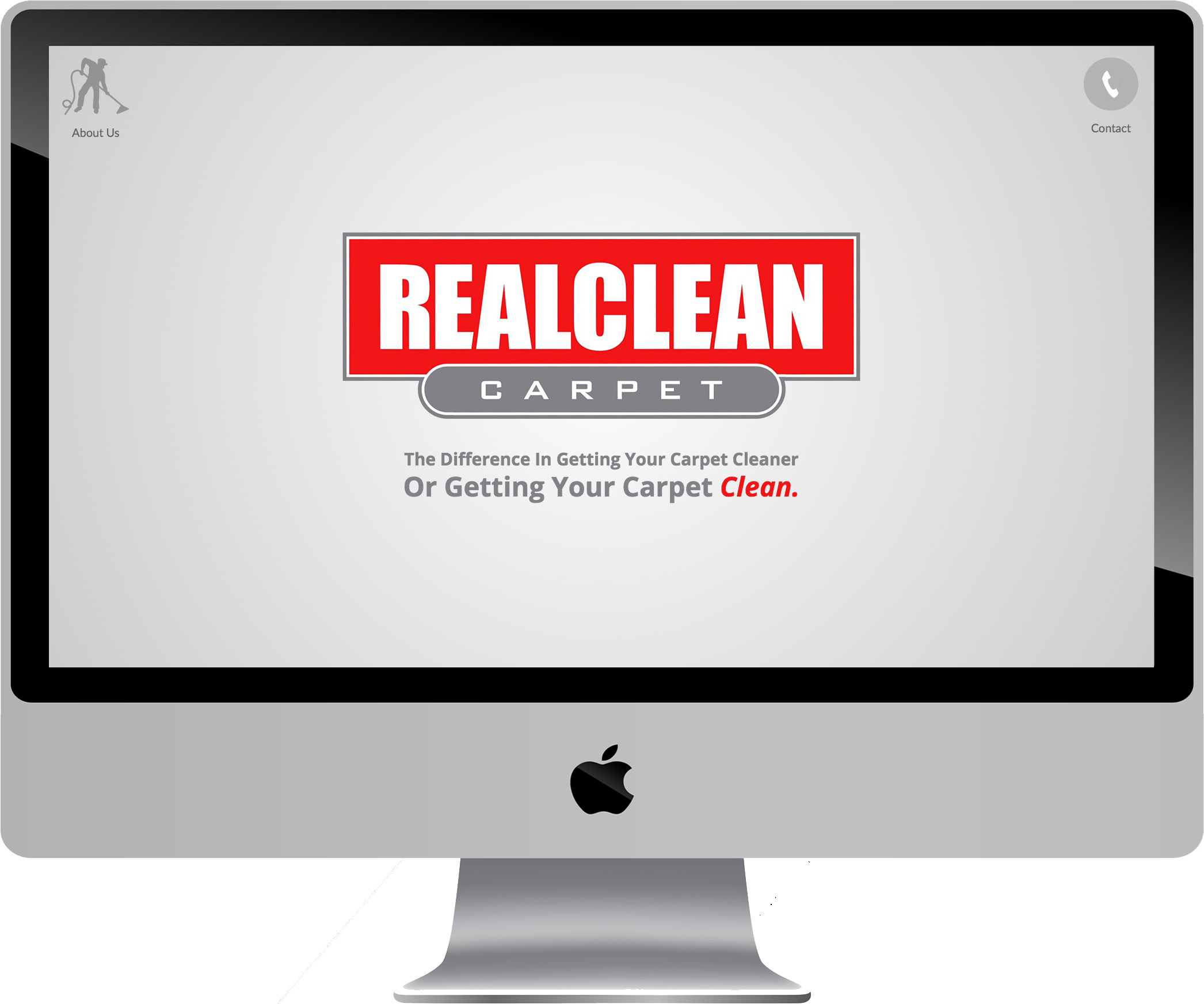 REALCLEAN Carpet Minimalist Website Design