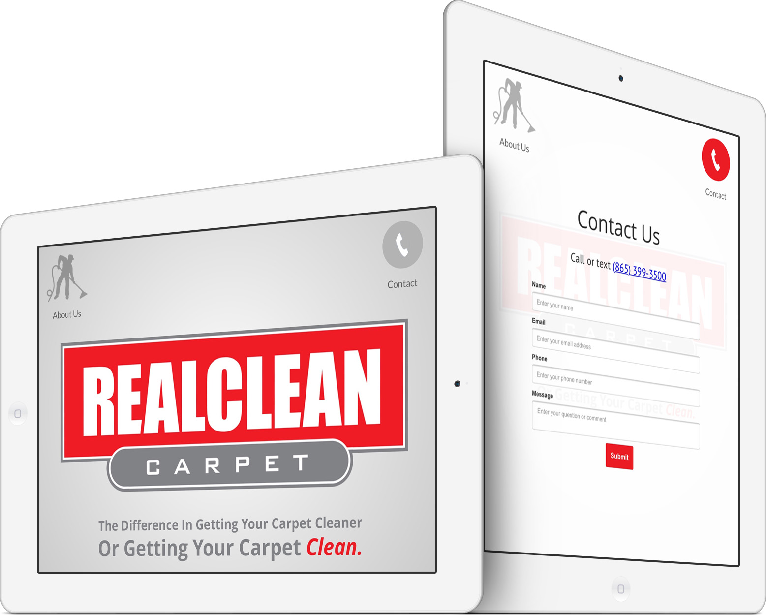 REALCLEAN Carpet Responsive Website Design