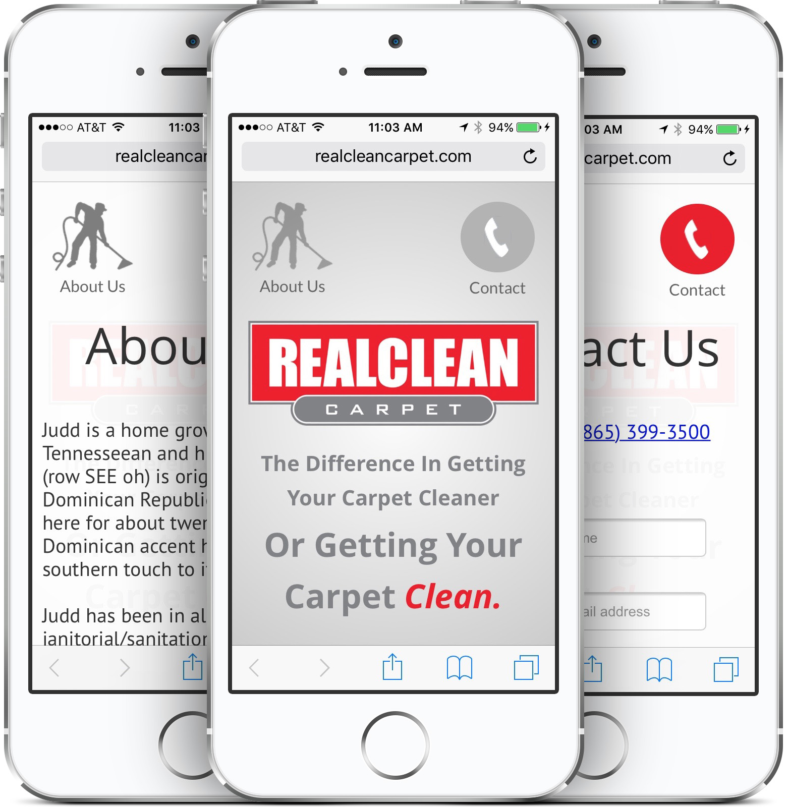 REALCLEAN Carpet Mobile-Friendly Website Design