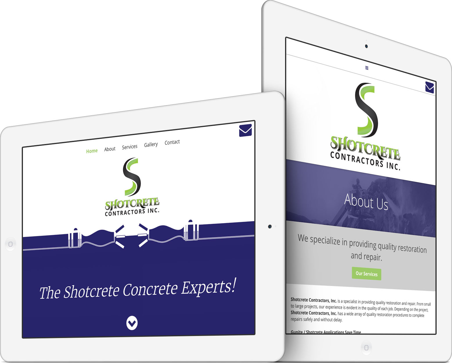 Shotcrete Contractors, Inc. Responsive Web Design