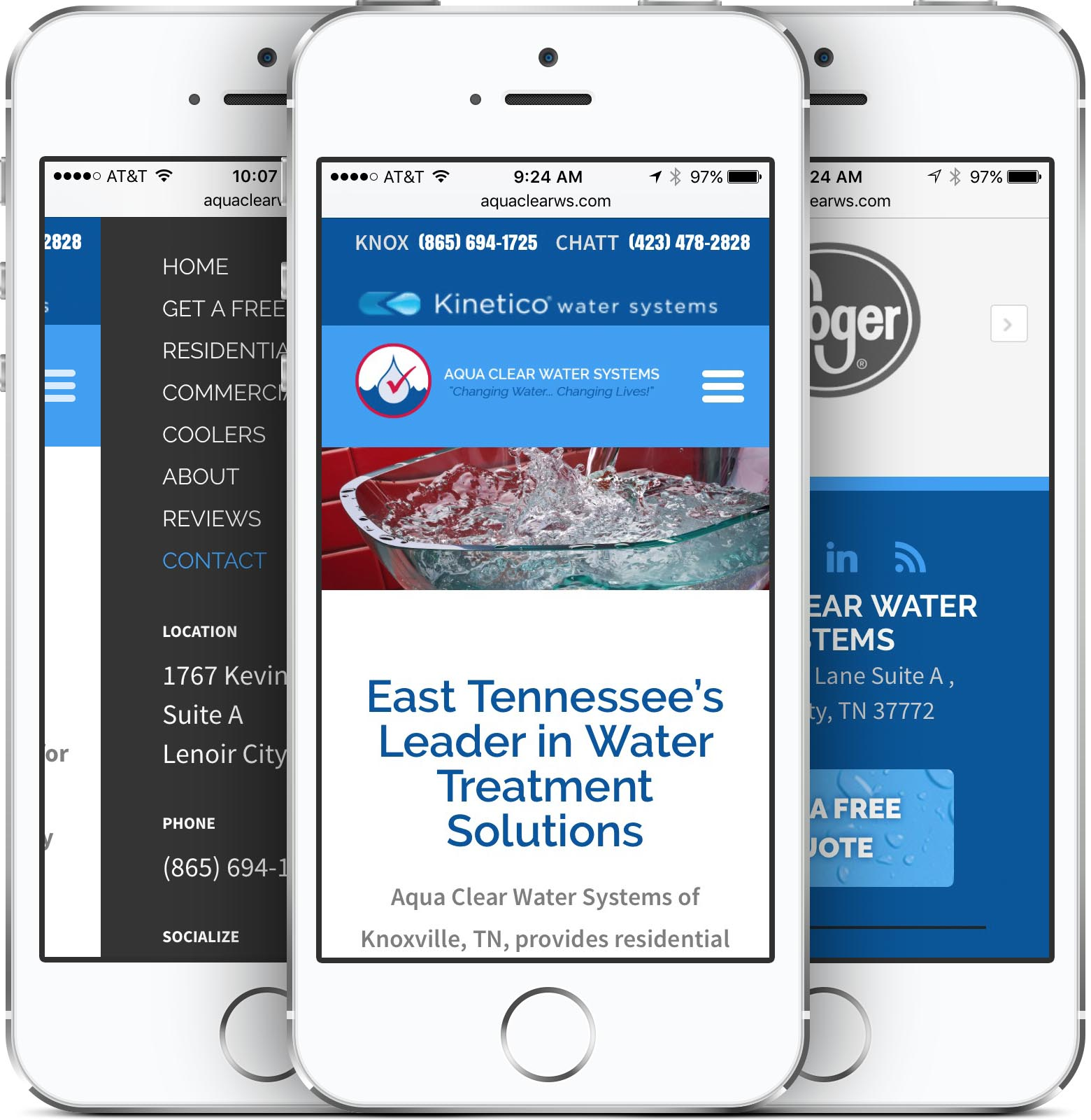 Aqua Clear Water Systems Responsive Mobile Friendly Web Design