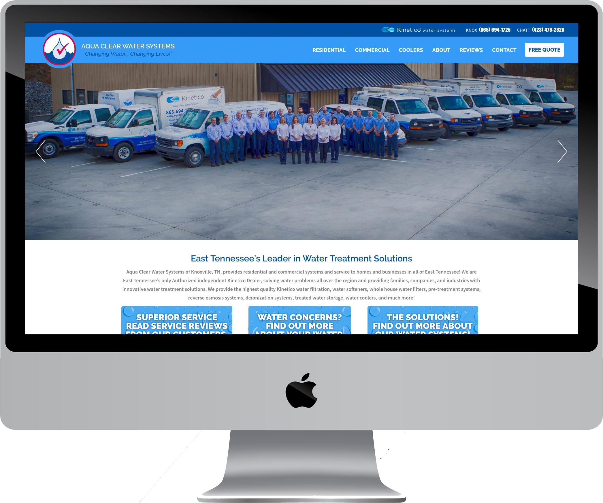 Aqua Clear Water Systems Responsive Web Design