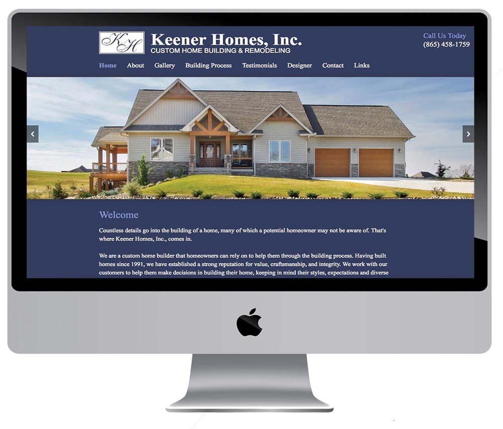 Home builder and remodeler web designer in knoxville tn for Home builder websites