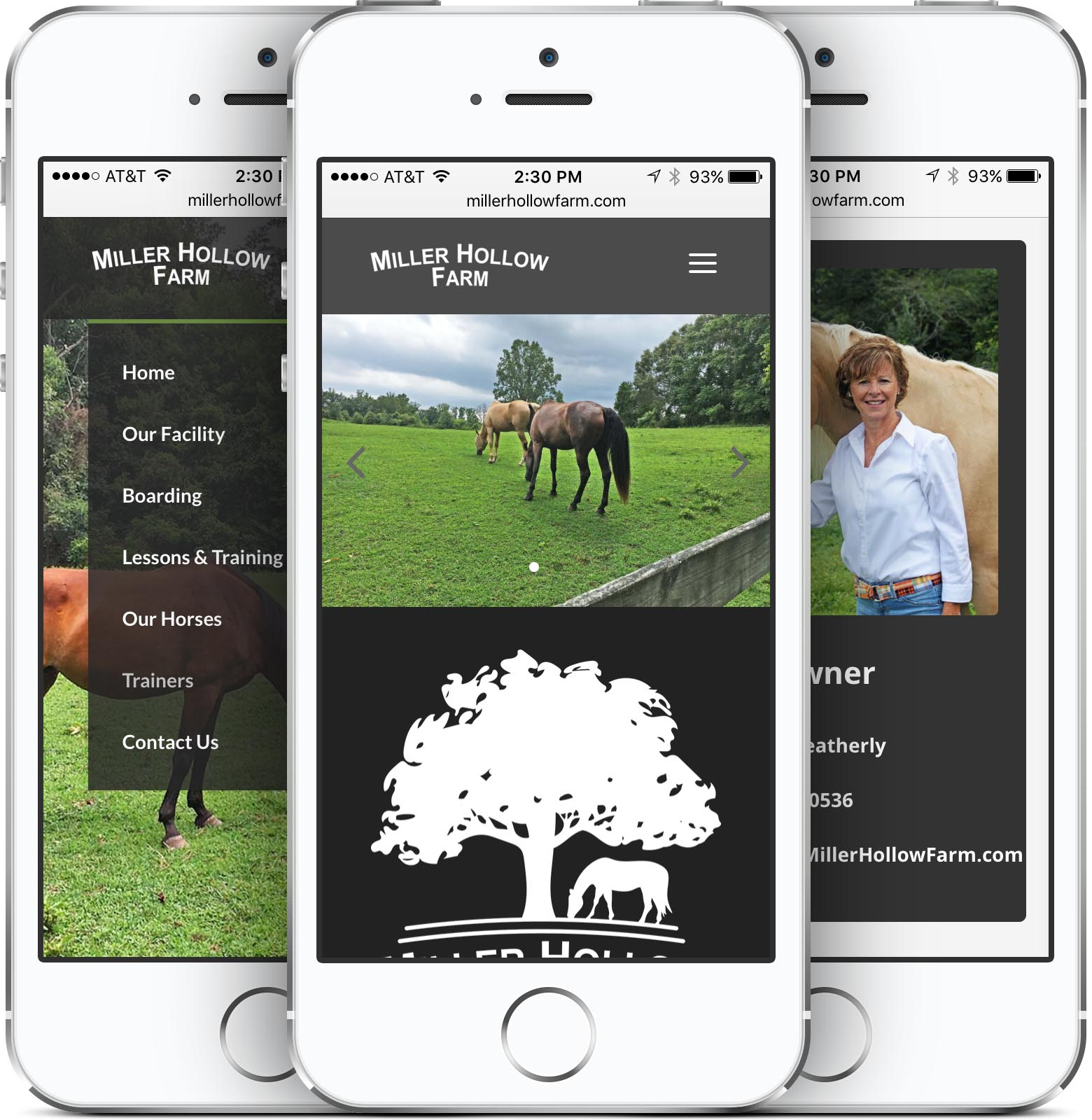 Miller Hollow Farm Mobile-Friendly Web Design Smartphone