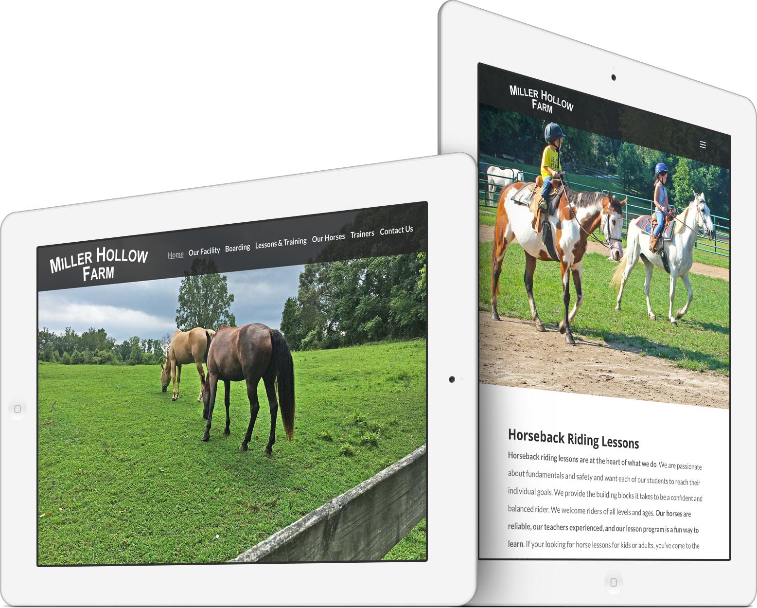Miller Hollow Farm Mobile-Friendly Web Design Tablet