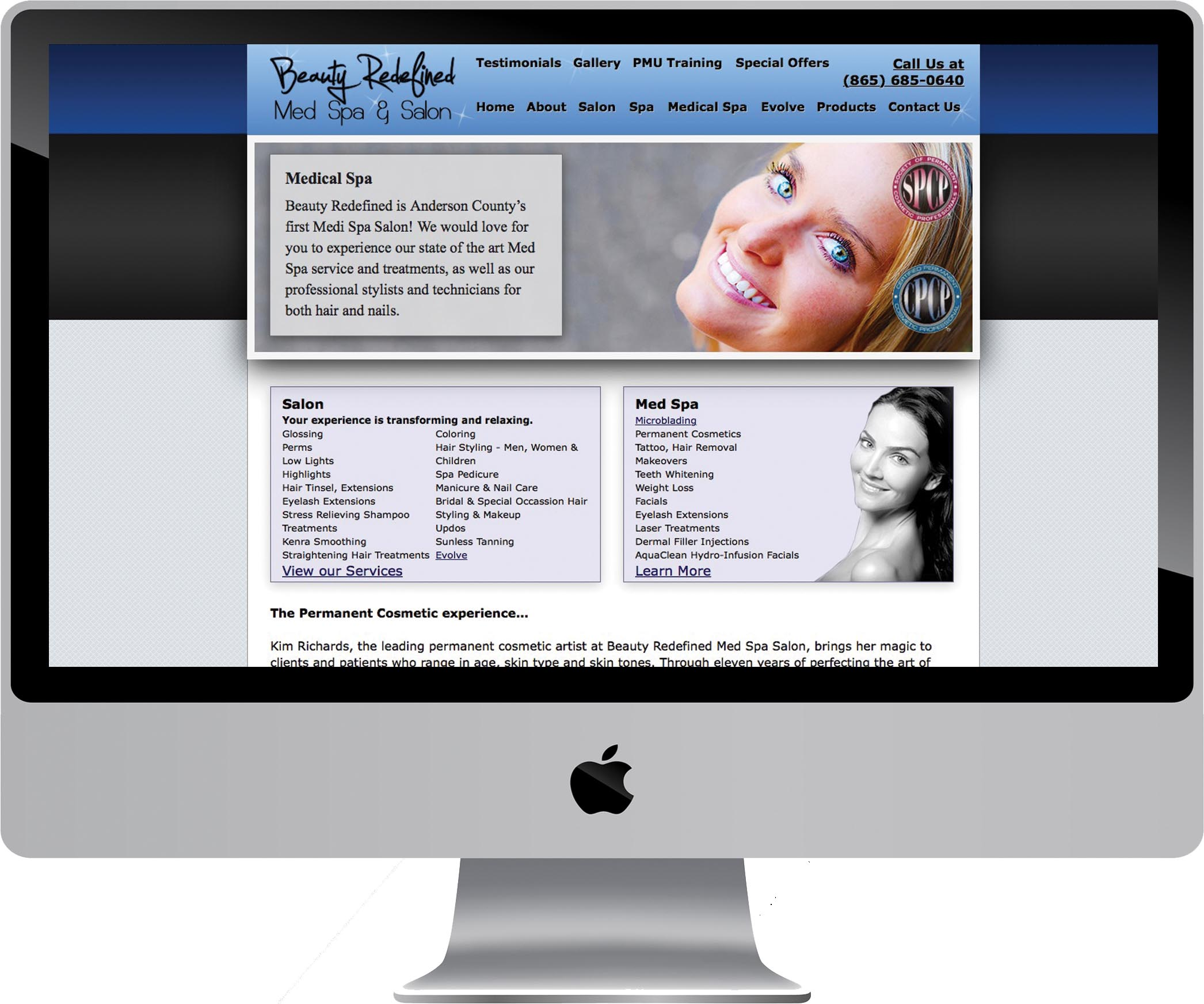 Beauty Redefined Salon Spa Web Design