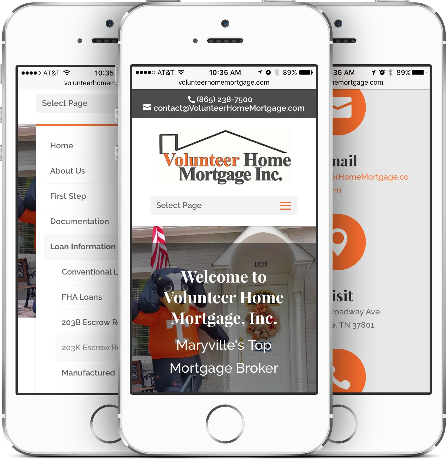 Volunteer Home Mortgage Mobile-Friendly Web Design