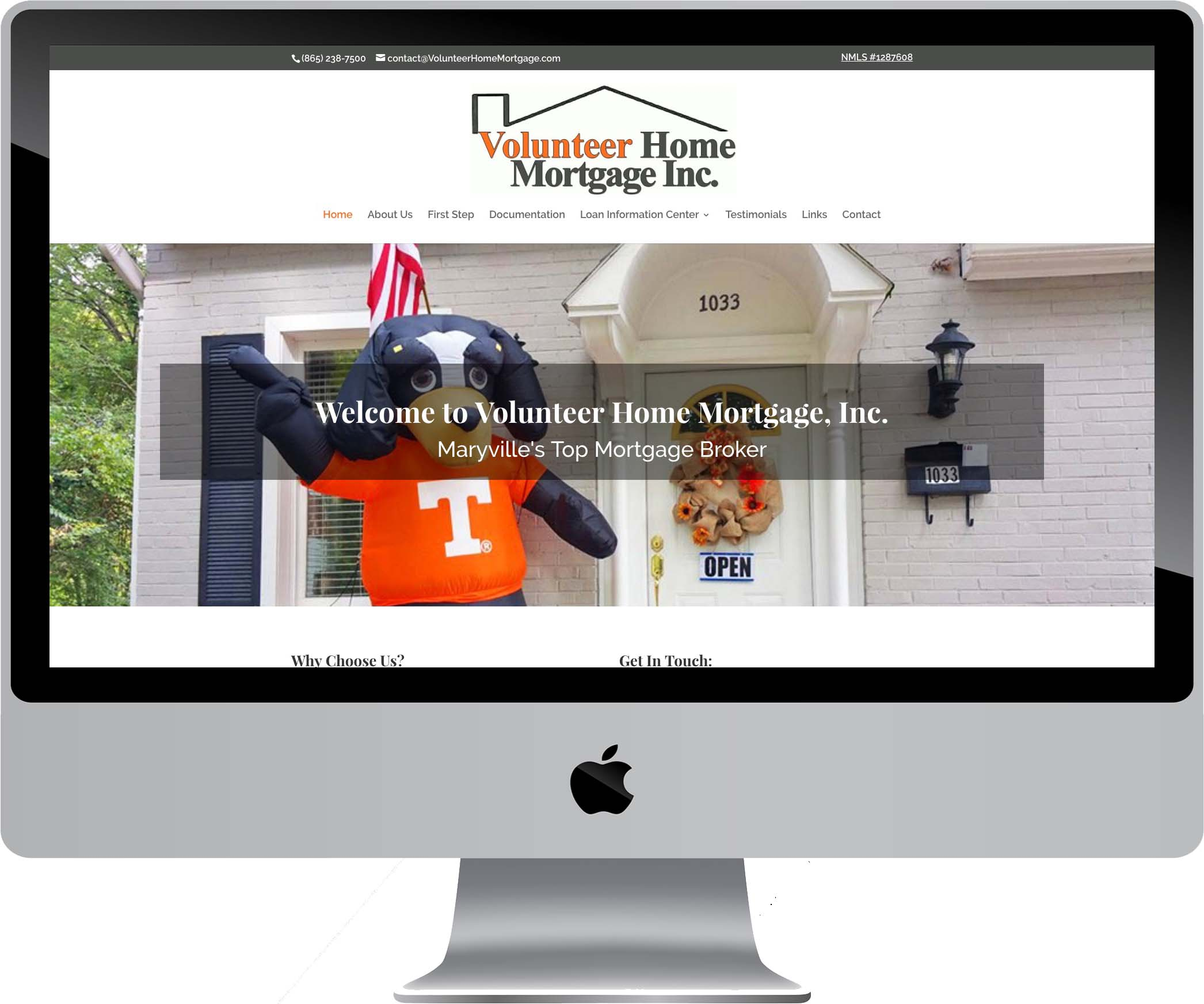 Volunteer Home Mortgage Web Design