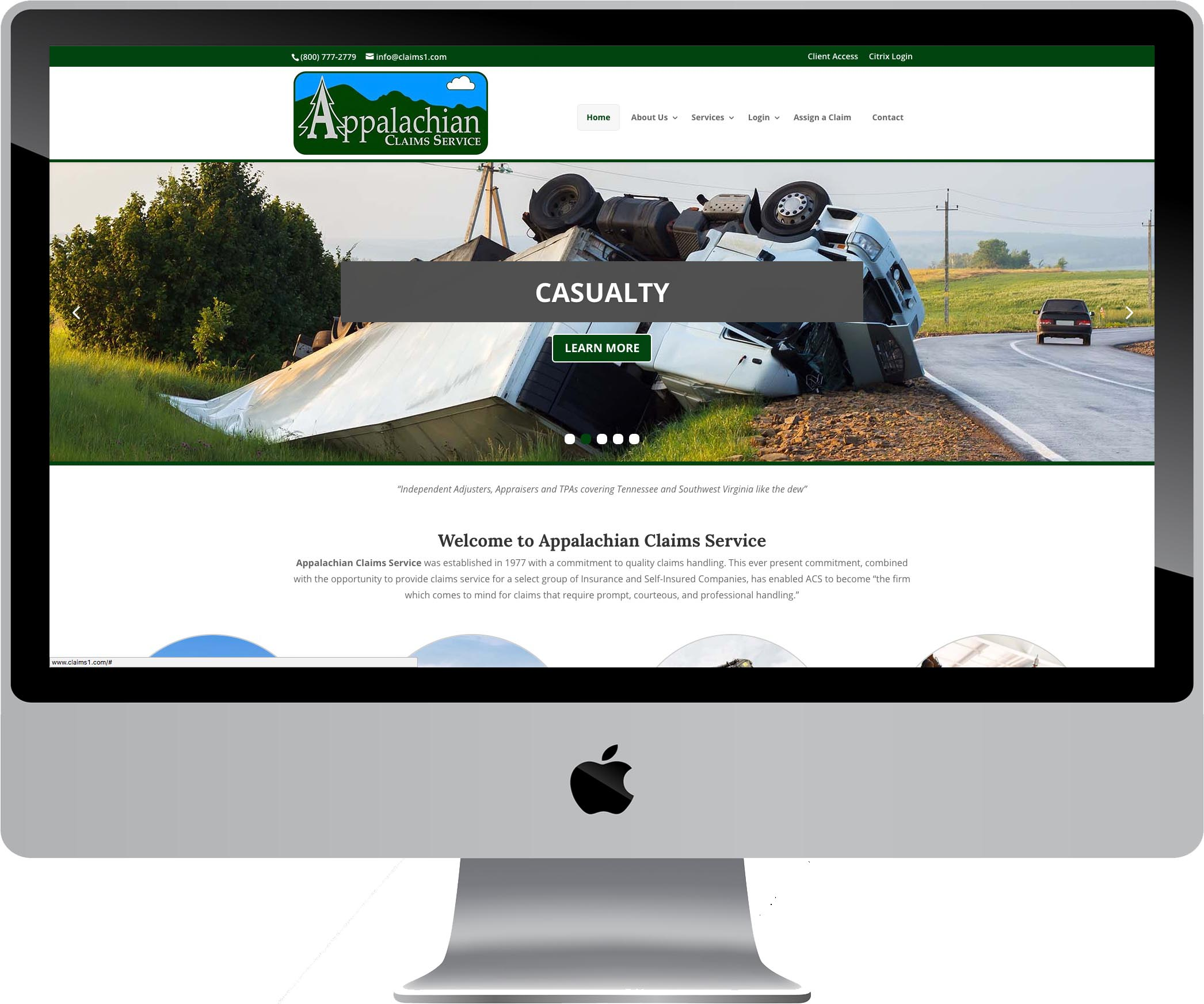 Appalachian Claims Service Website Design