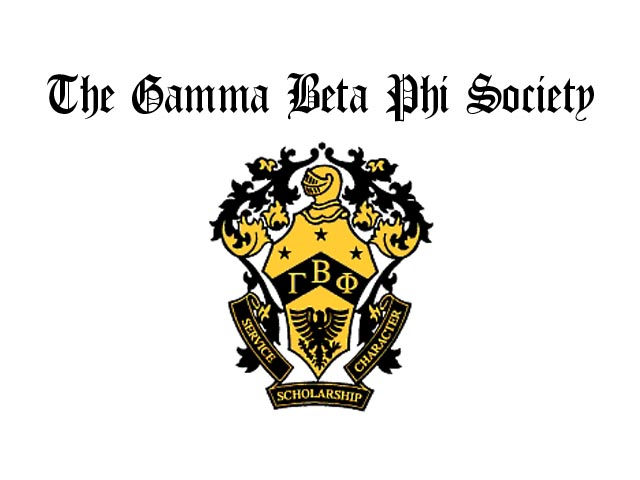 Gamma Beta Phi Honor Society Web Design