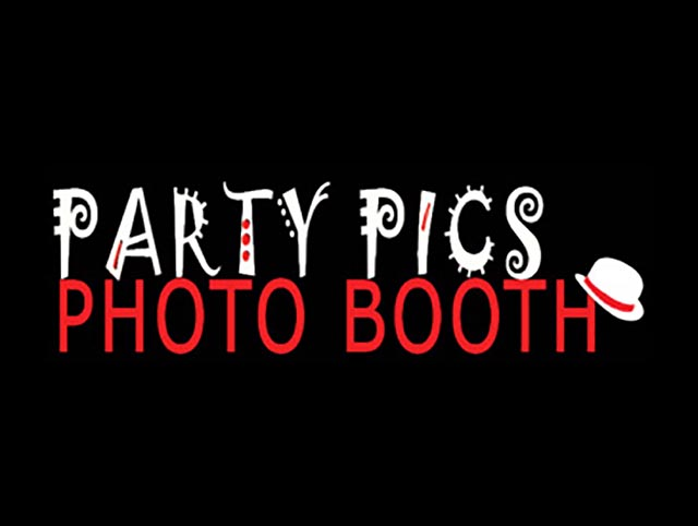Party Pics Photo Booth Event Web Design