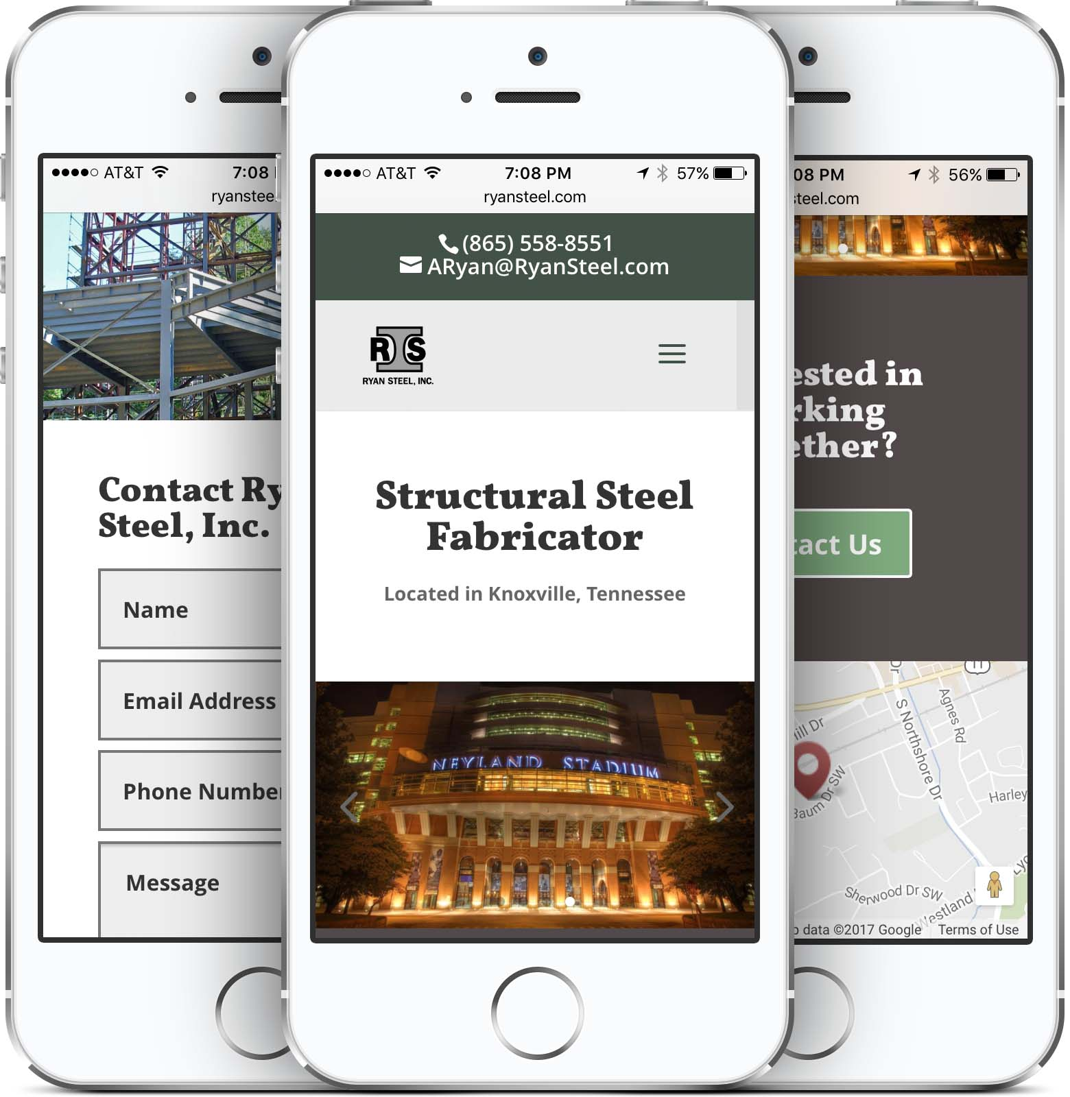 Ryan Steel Website Design