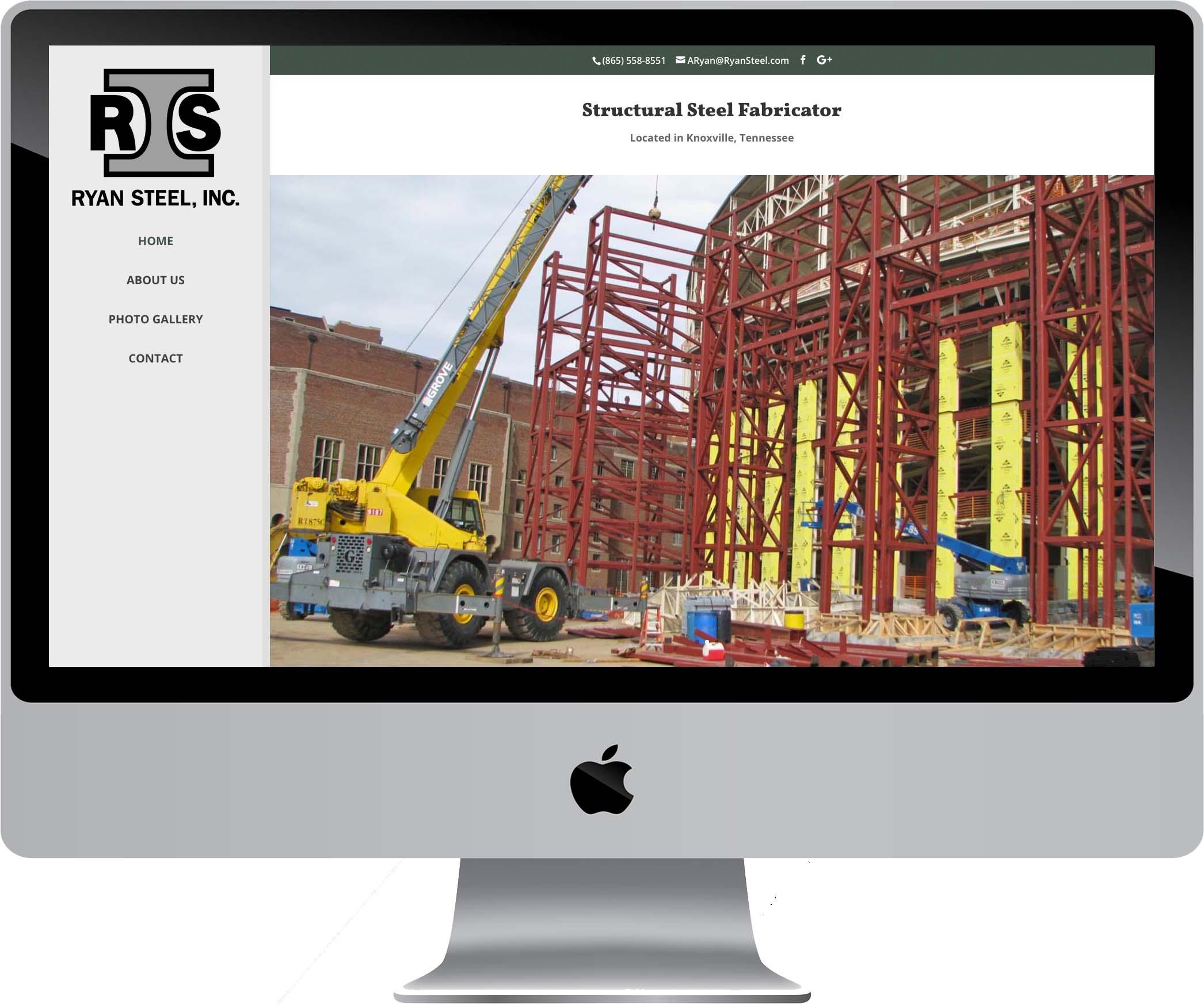 Ryan Steel Website Design