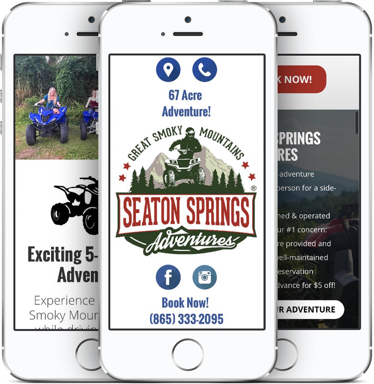 Seaton Springs Adventures Mobile-Friendly Web Design