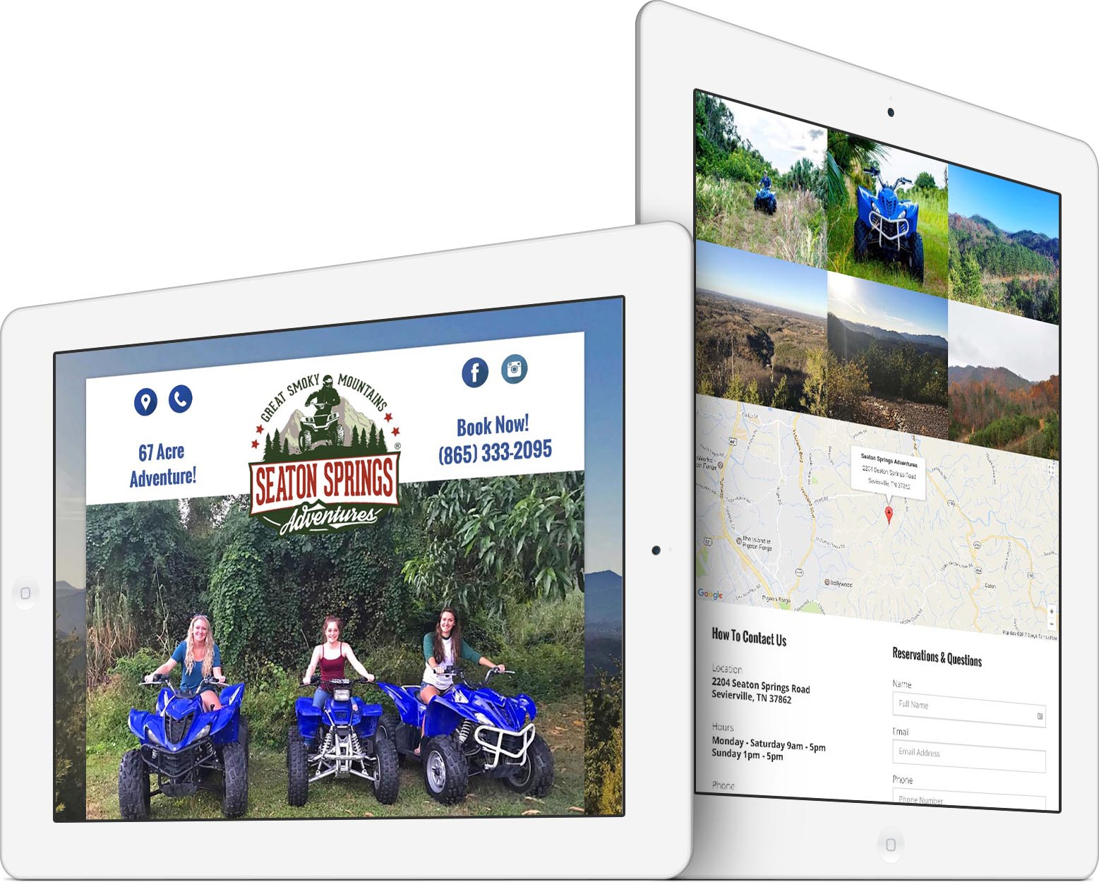 Seaton Springs Adventures Responsive Web Design