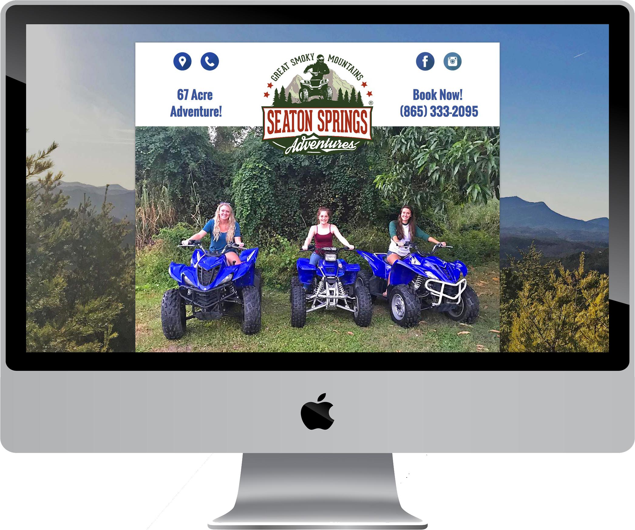 Seaton Springs Adventures Website Design