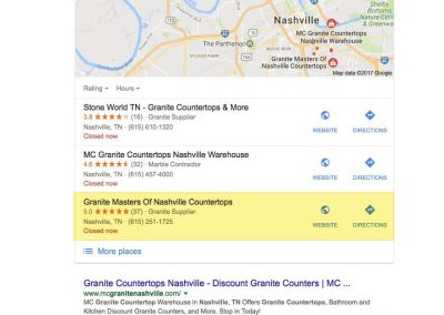 Granite Masters of Nashville SEO