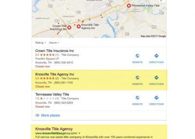 Knoxville Title Agency SEO