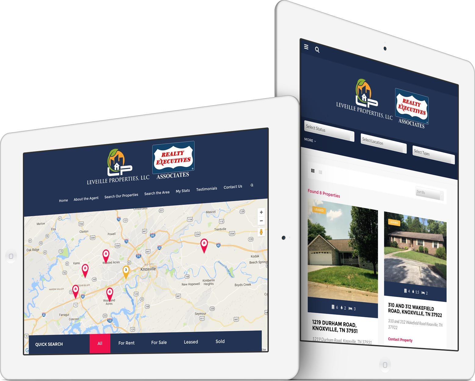 Leveille Properties Responsive Web Design