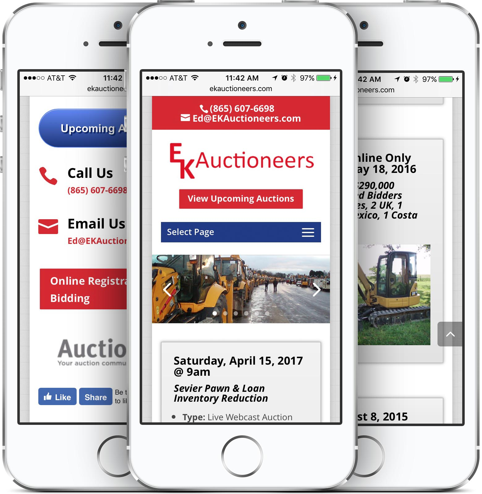 EK Auctioneers Mobile-Friendly Web Design