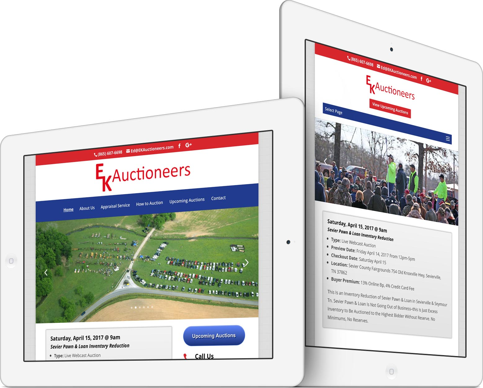 EK Auctioneers Responsive Web Design
