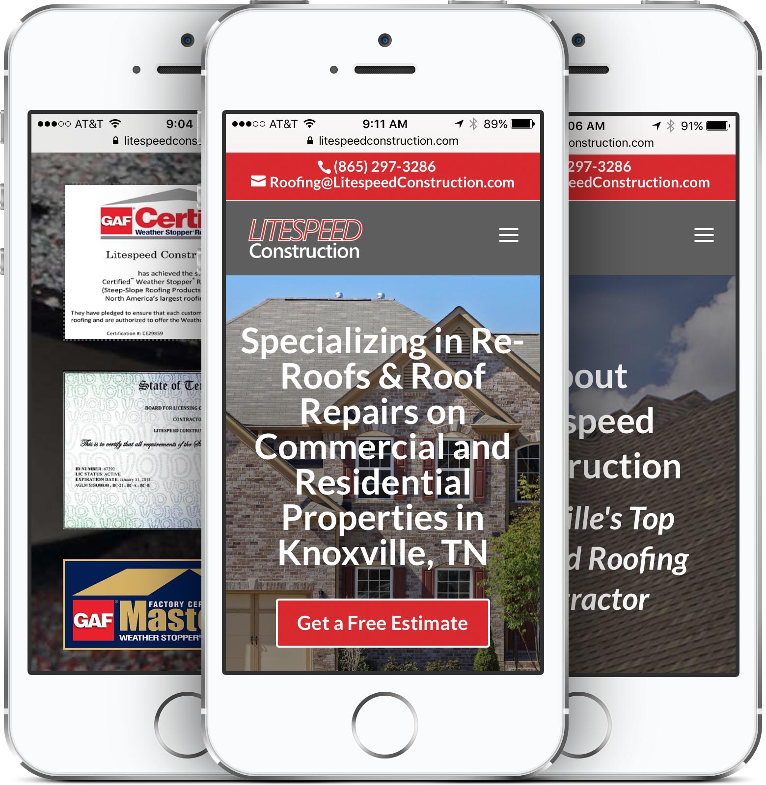 Litespeed Construction Mobile-Friendly Web Design