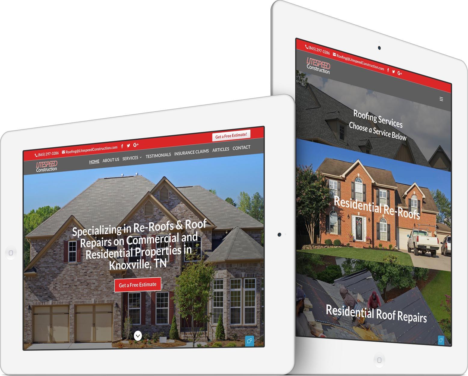 Litespeed Construction Roofer Web Design