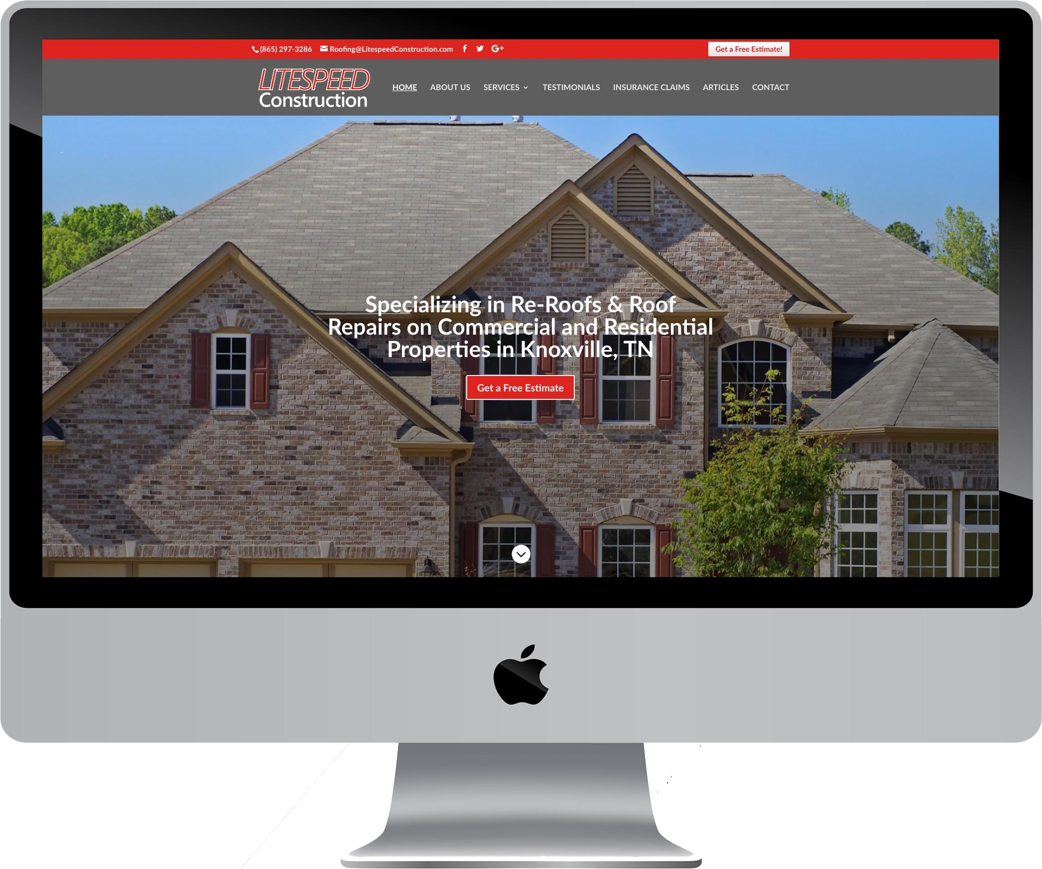 Litespeed Construction Website Design